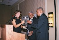 Arthur Davis receiving award