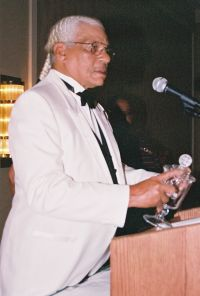 Richard Sebastian receiving award