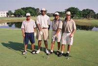 golf foursome during the AAGHOF event