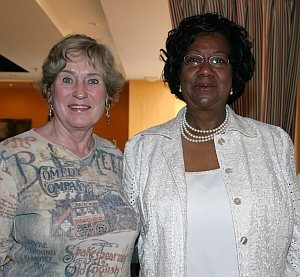 Suzanna Brock and Dr. Thelma B. Thompson, Pres. UMES