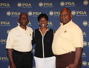 Gordon Brown, Avis Brown-Riley and Malachi Knowles at the San Diego PGA Annual Meeting.